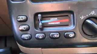 How to: Hvac calibration 1996-2000 Chrysler Minivans