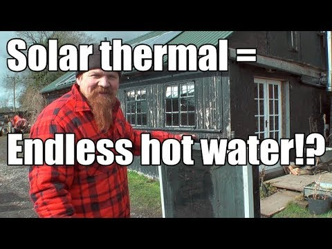 Experimental Solar Hot Water pt 1