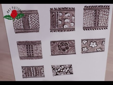 simple beautiful intricate mehndi border for hands : my experience as henna artist :english