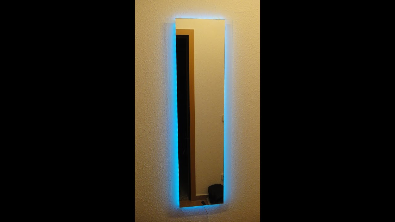 led spiegel selber bauen youtube. Black Bedroom Furniture Sets. Home Design Ideas