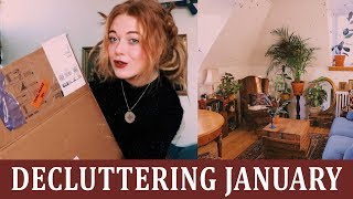 Decluttering January | Retro Living room | Episode 1