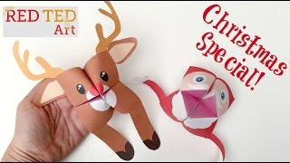 Paper Toys for Christmas Crafts  - Easy Origami Paper Fortune Tell