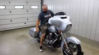 2014 street glide with vance and hines slash round slip ons