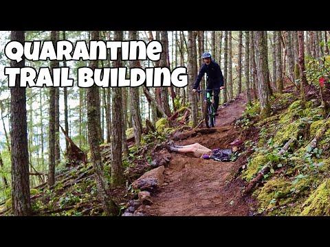 QUARANTINE TRAIL BUILDING Ep 8 (Rain Can't Stop Us)
