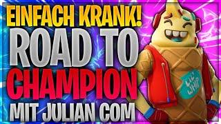 😱🤯 EINFACH KRANK! Road to Champions Liga mit JulianCom   Fortnite Battle Royale