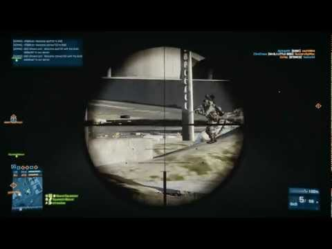 Battlefield 3 PC Multiplayer Kharg Island Sniper 66 KILLS