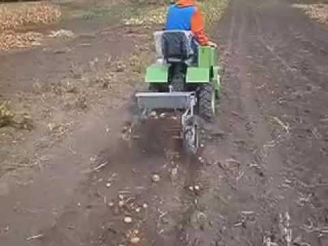 Посадка картошки с помощью мотоблока Зубр, Садко, Кентавр, Zirka .
