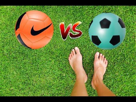 Bola da Nike vs Bola de Leite  Desafio do Um Toque