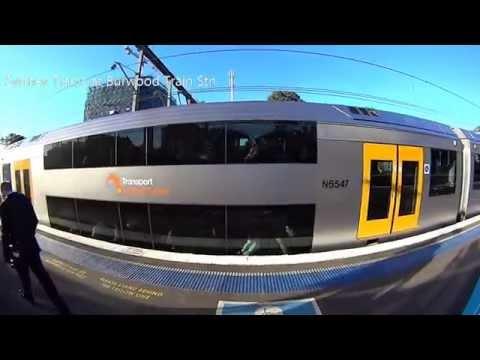 Sony HDR-AS15K - Sydney Trains at Burwood Railway Station Sydney