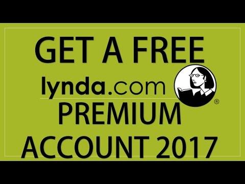 FREE PREMIUM ACCOUNT FOR LYNDA.COM 2017 NEW