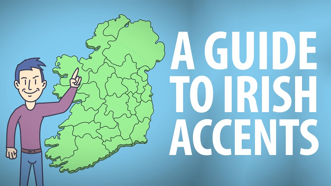 Map Of Ireland On Your Face.Guide To Irish Accents