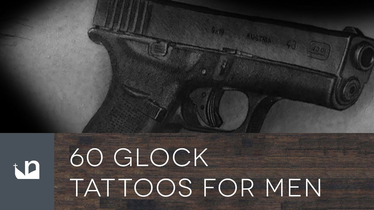 60 Glock Tattoo Ideas For Men – Handgun Designs