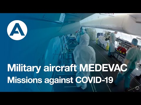 Military aircraft MEDEVAC missions against COVID-19