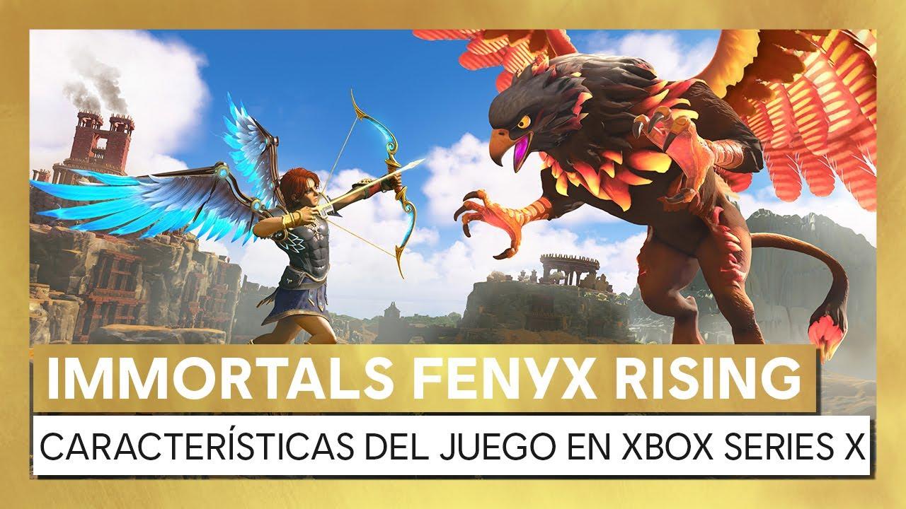 Immortals Fenyx Rising - Características del juego en Xbox Series X