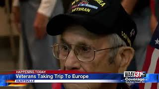 14 world war ii veterans will be visiting belgium, luxembourg, and germany as part of a healing trip with forever young senior veterans.