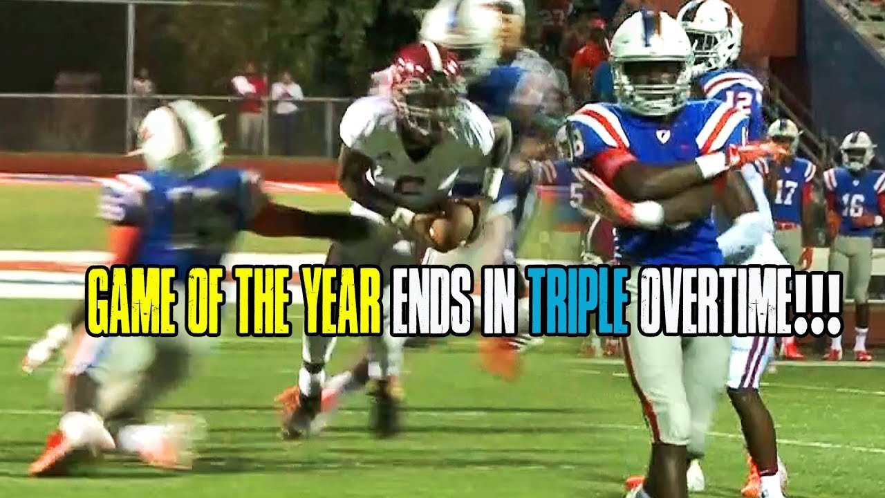 FOOTBALL GAME OF THE YEAR!! TRINITY VS EAST SAINT LOUIS GOES TRIPLE OT  THRILLER!!