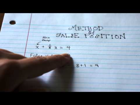 Ancient Egyptian Math:  Method Of False Position