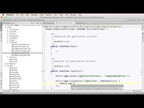 ServiceProviders no Laravel 5