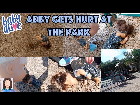 Baby Alive Abby Gets Hurt At Park With Babysitter!