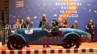 Vintage cars fill Rome as second stage of 1000 Miglia race concludes