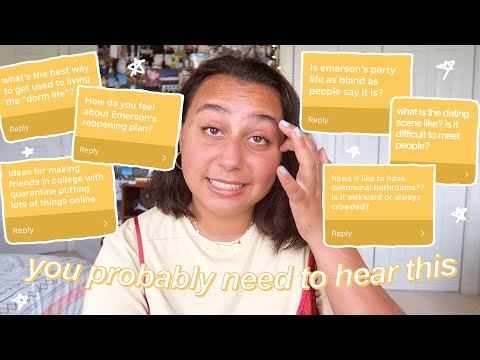 college advice you need to hear | college q&a(dating scene, communal bathrooms, college move in day) from YouTube · Duration:  16 minutes 5 seconds