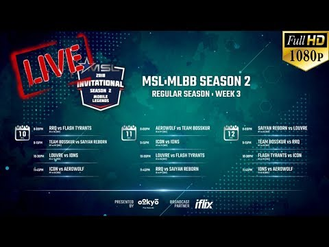 🔴[LIVE - HD 1080P] ICON (MY) vs AEROWOLF (ID) | MOBILE STAR LEAGUE (MSL) SEASON 2 | WEEK 3 DAY 1
