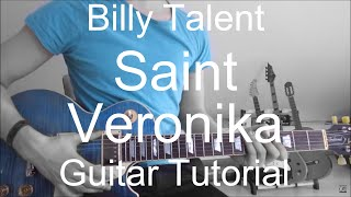 Billy Talent: Saint veronika (INCLUDING THE SOLO) (GUITAR TUTORIAL/LESSON#5)