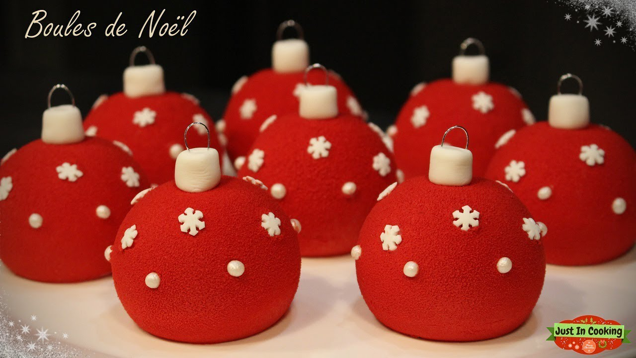 ❅ Recette de Boules de Noël Chocolat Framboise ❅   YouTube