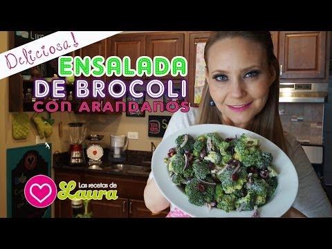 Ensalda de brocoli con Arándanos ♥ Regalo día de las madres