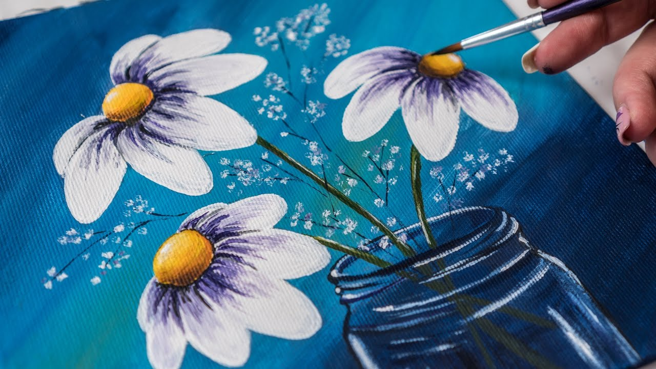 Blue Glass Paint For Mason Jars