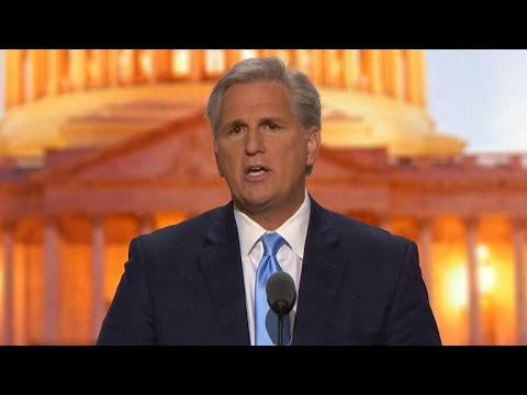 House Majority Leader Kevin McCarthy addresses RNC