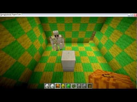 Minecraft invoquer un golem de fer et un bonhomme de neige - Minecraft golem de fer ...