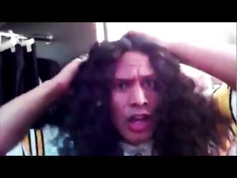 Troy Polamalu Gets His Hair Cut