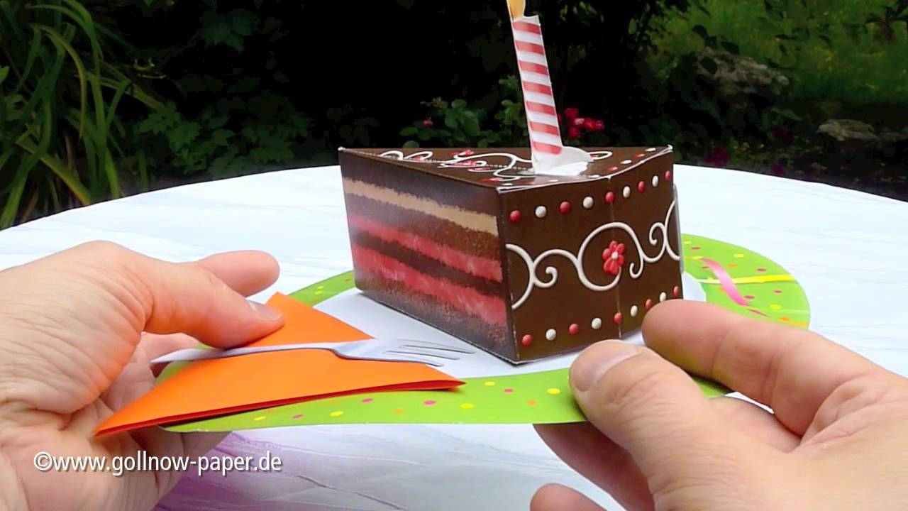 Pop Up Cards Fancy Cakes Youtube