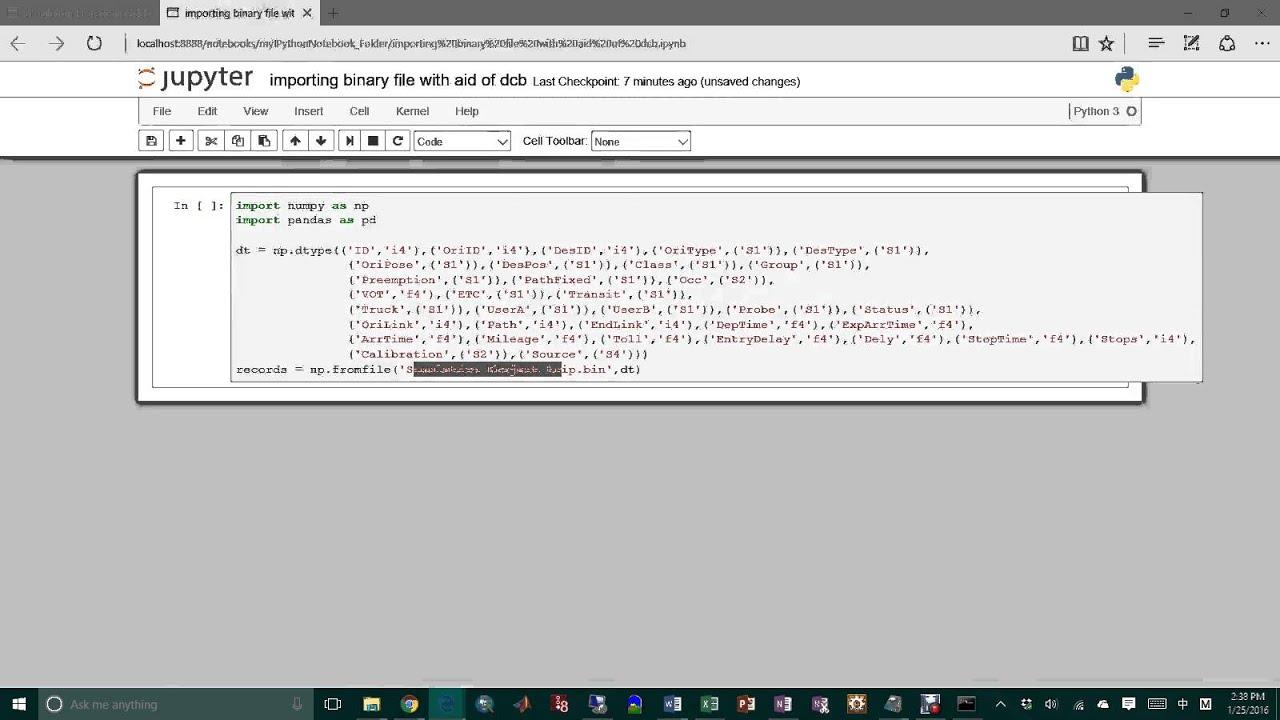 Loading Binary File As Pandas DataFrame Thru Numpy Record Array