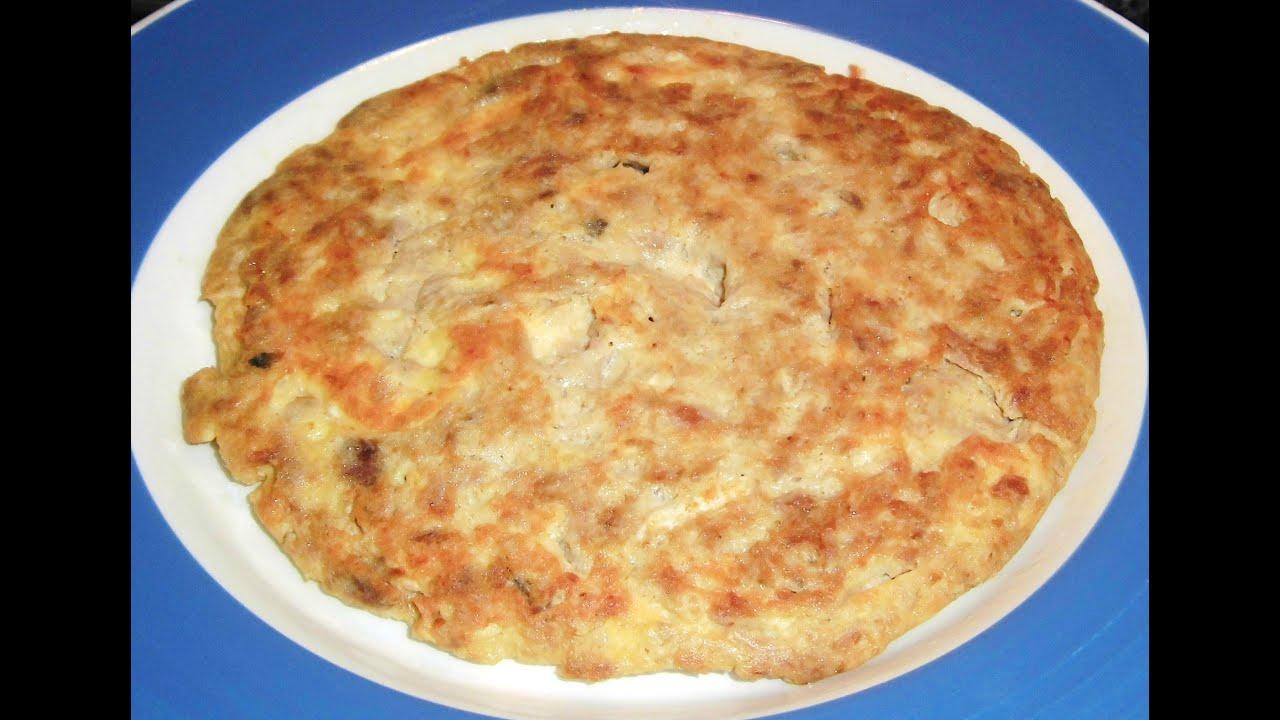receta tortilla de atun sin huevos