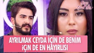 """Mustafa: """"Ayrılmak Ceyda için de benim için de en hayırlısı..."""" - Esra Erol'da 11 Nisan 2017"""