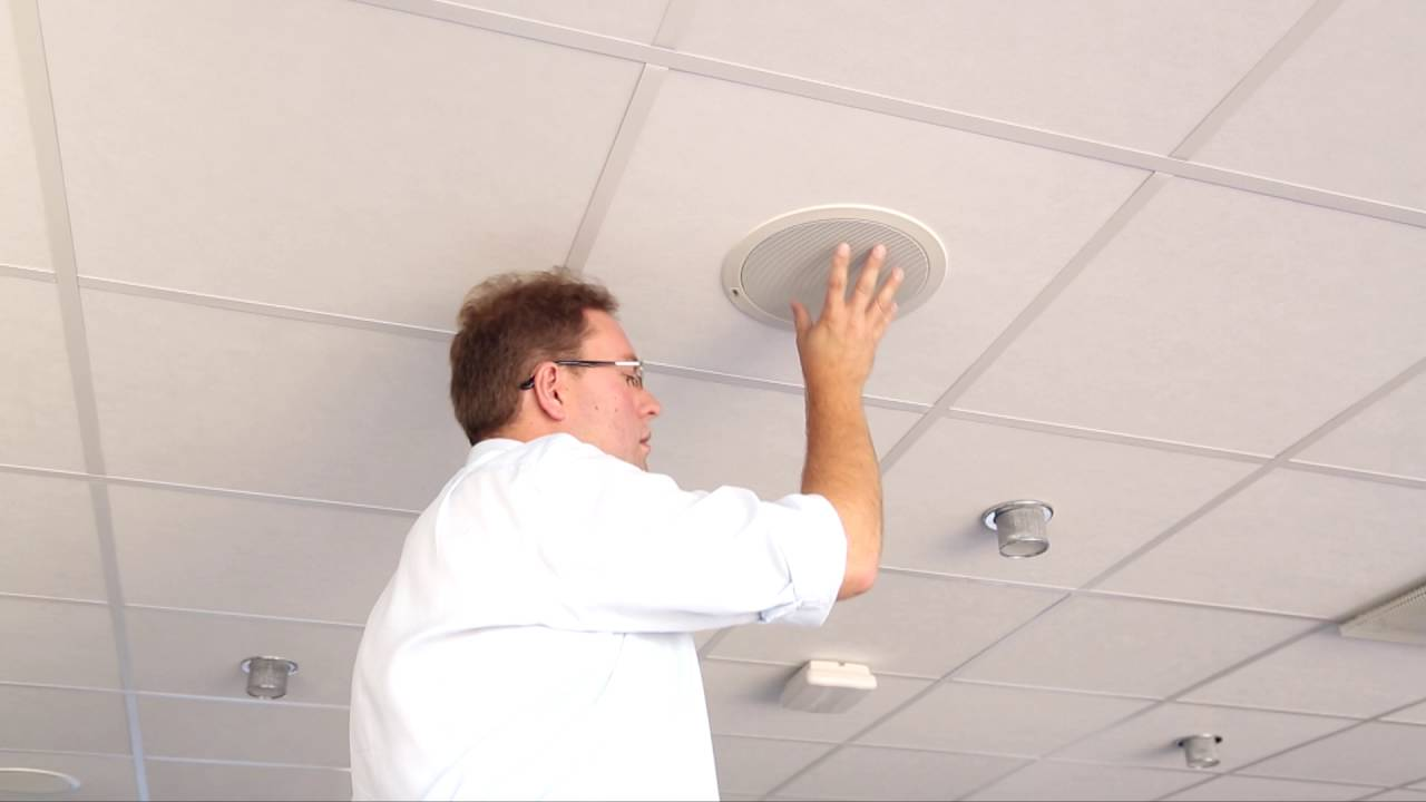 Axis C2005 Network Ceiling Speaker Installation Tutorial Youtube