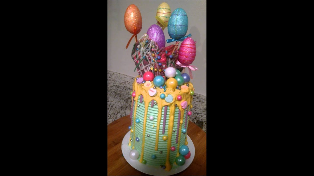 Happy Easter Drip Cake YouTube