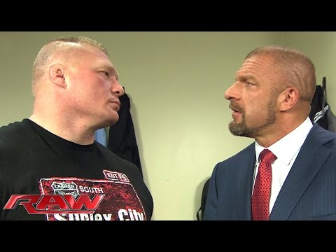 Brock Lesnar And Triple H Cross Paths In A Tense Backstage Encounter: Raw, February 1, 2016