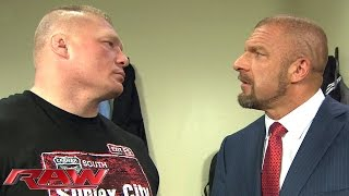 Brock Lesnar and Triple H cross paths in a tense backstage encounter: Raw, February 1, 2016 thumbnail