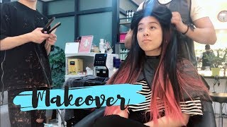 FIRST TIME GETTING MY HAIR DYED (makeover in Korea)