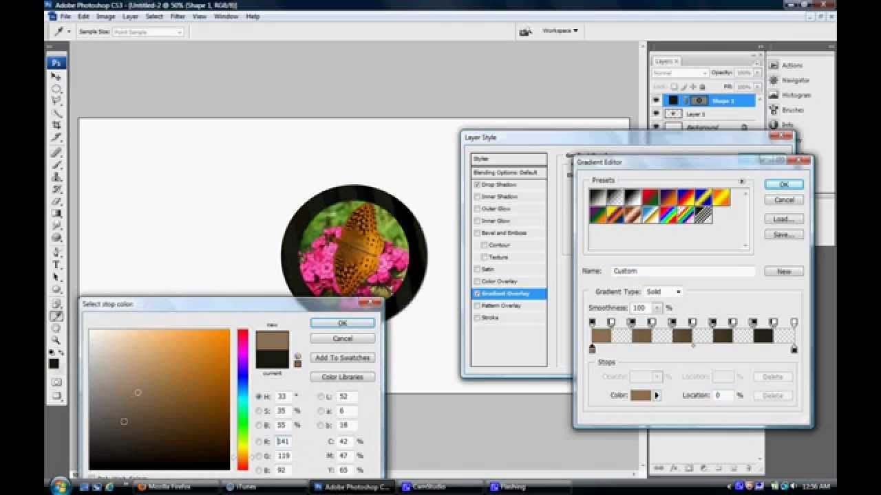 Create a Circle Border in Photoshop - YouTube