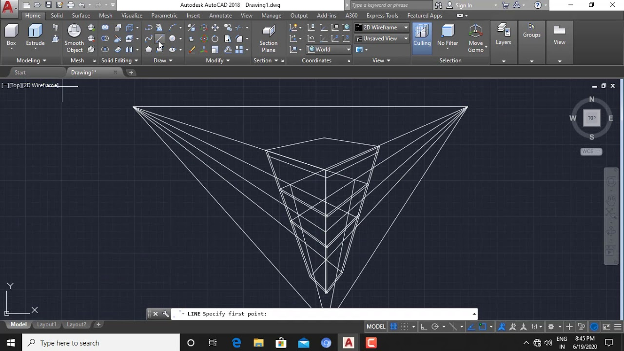 HOW TO DRAW BASIC PERSPECTIVE BUILDING IN AUTOCAD YouTube