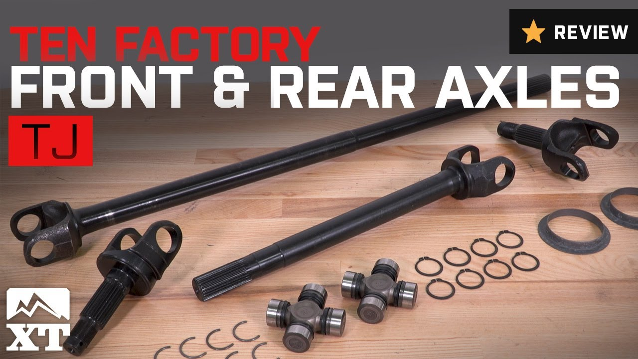 Jeep Wrangler Ten Factory Front and Rear Axles (1997-2006 TJ) Review