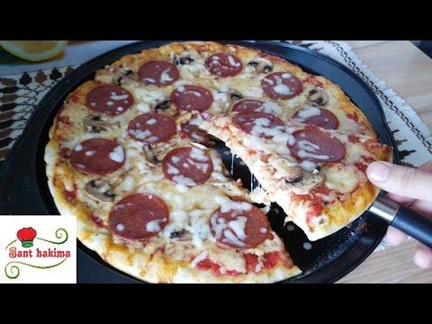 صورة  طريقة عمل البيتزا طريقة عمل بيتزا السجق و المشروم الرااائعة بنجاح طريقة عمل البيتزا من يوتيوب