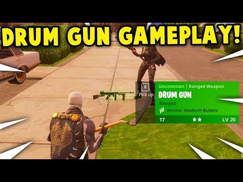 *NEW* 'DRUM GUN' GAMEPLAY! | FORTNITE *TOMMY GUN* UPDATE GAMEPLAY! (this Weapon Is Overpowered)