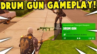 *NEW* 'DRUM GUN' GAMEPLAY! | FORTNITE *TOMMY GUN* UPDATE GAMEPLAY! (this weapon is overpowered)