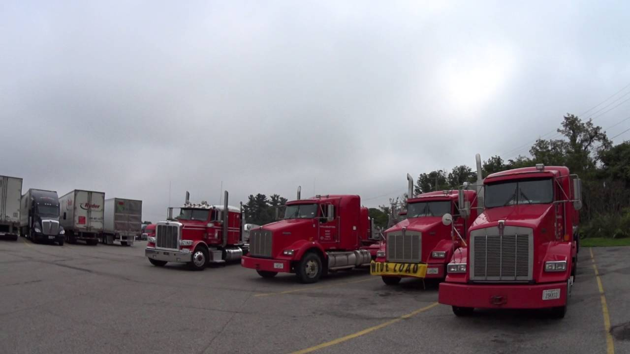 2196 truck stop invaded by Halliburton trucks