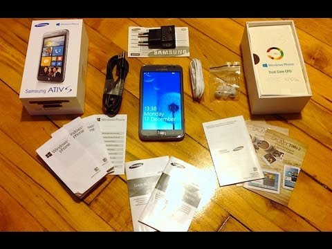 Samsung ATIV S Unboxing & Hardware Tour